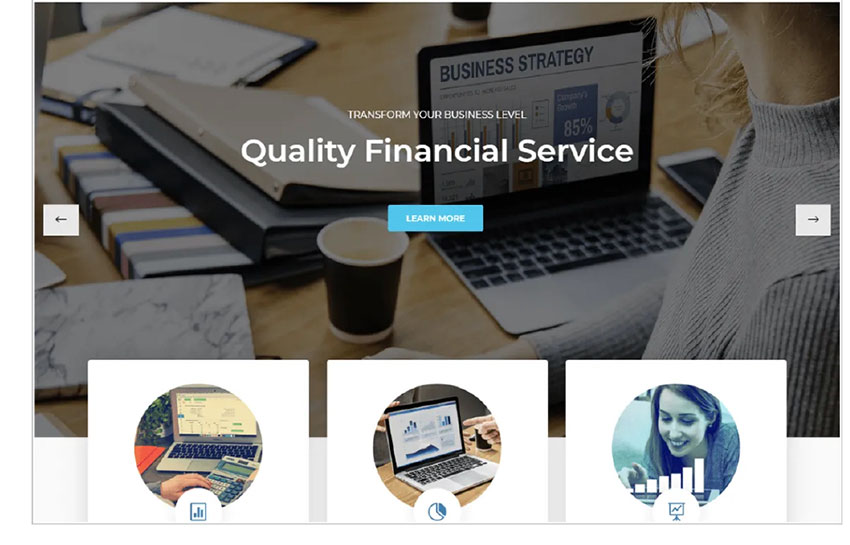 Finance Consultr Free WordPress Theme