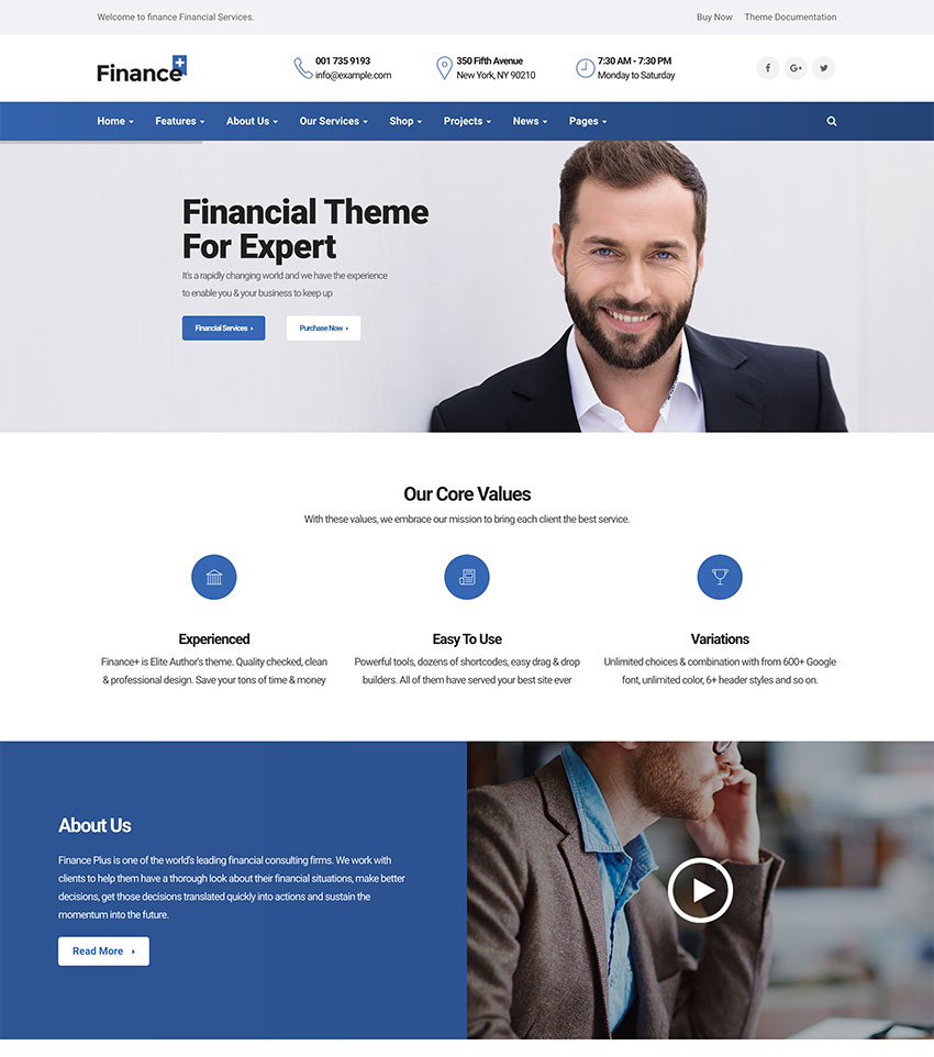 FinancePlus - Consulting Business WordPress Theme