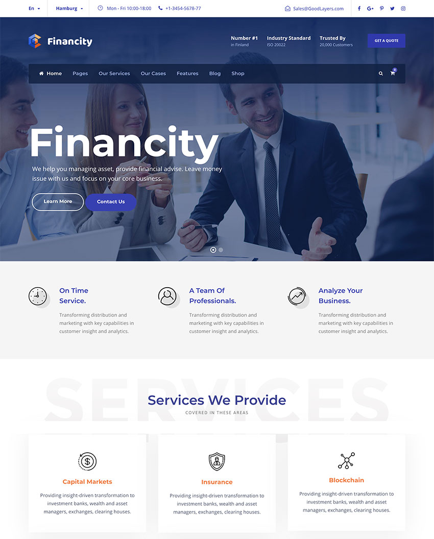 Financity - WordPress para negocios, financieros, finanzas