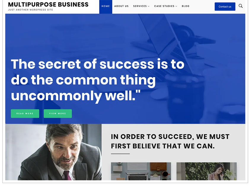 Multipurpose Business Free WordPress Theme