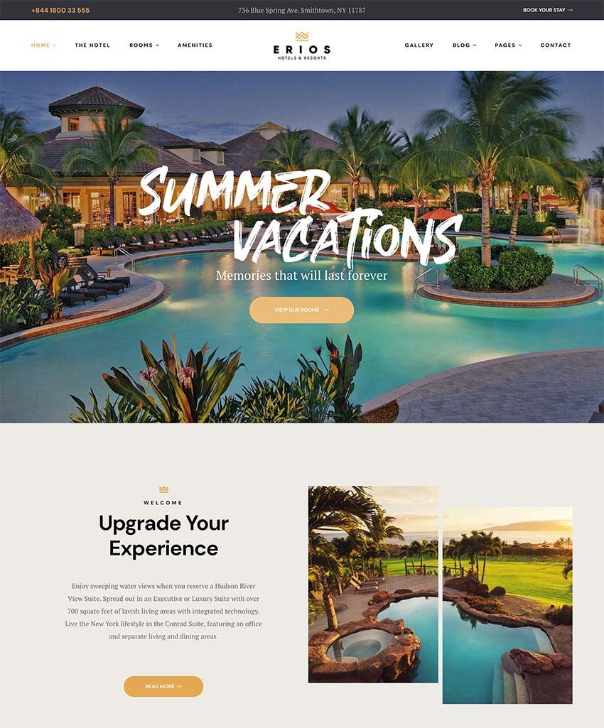 Erios - Resort Hotel WordPress Theme