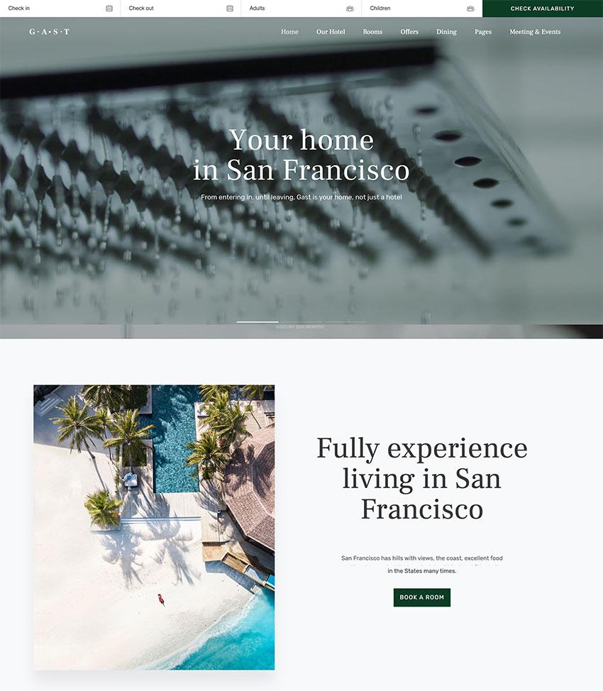 Gast - Hotel WordPress