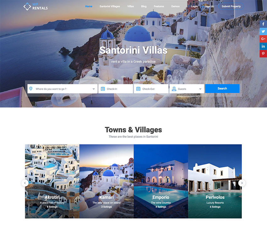 WP Rentals - Tema WordPress para la reserva de alojamientos hoteleros
