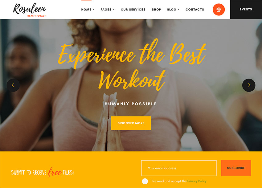 Rosaleen - Health Coach WordPress Theme
