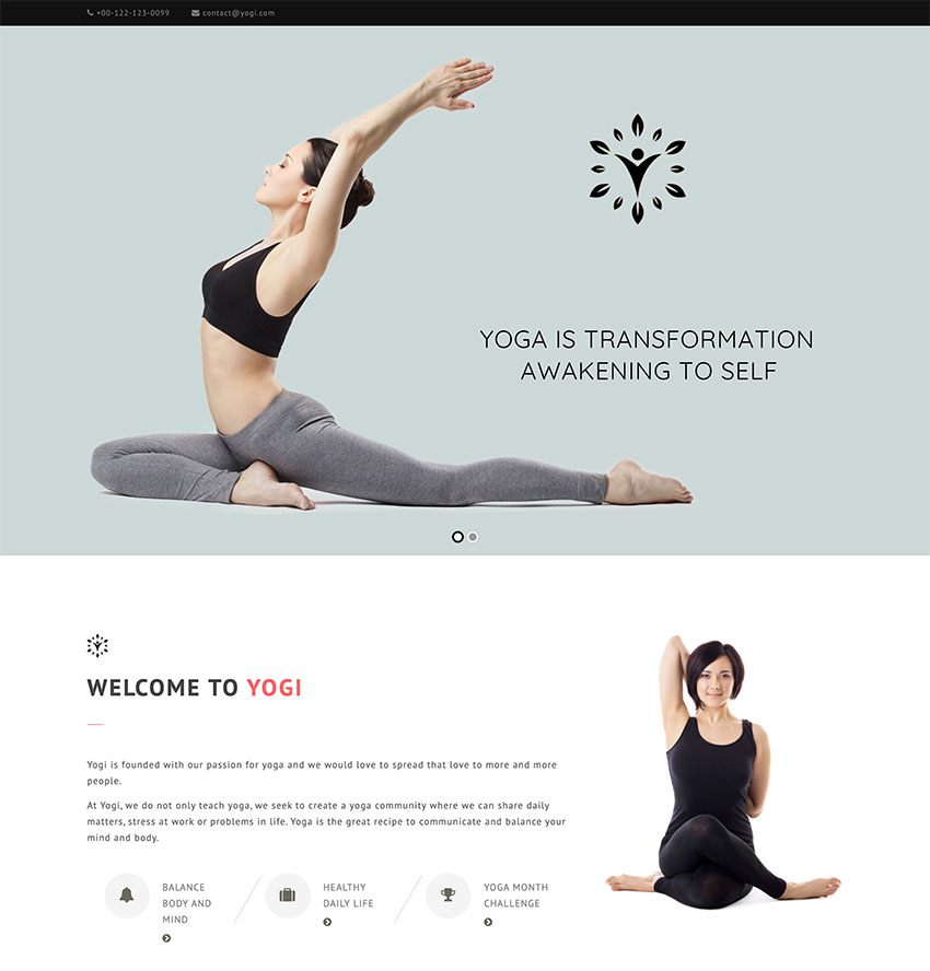 Yogi - Health Beauty  Yoga WordPress Theme