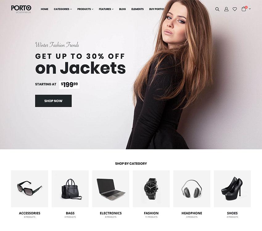 Porto  Multipurpose  WooCommerce Theme