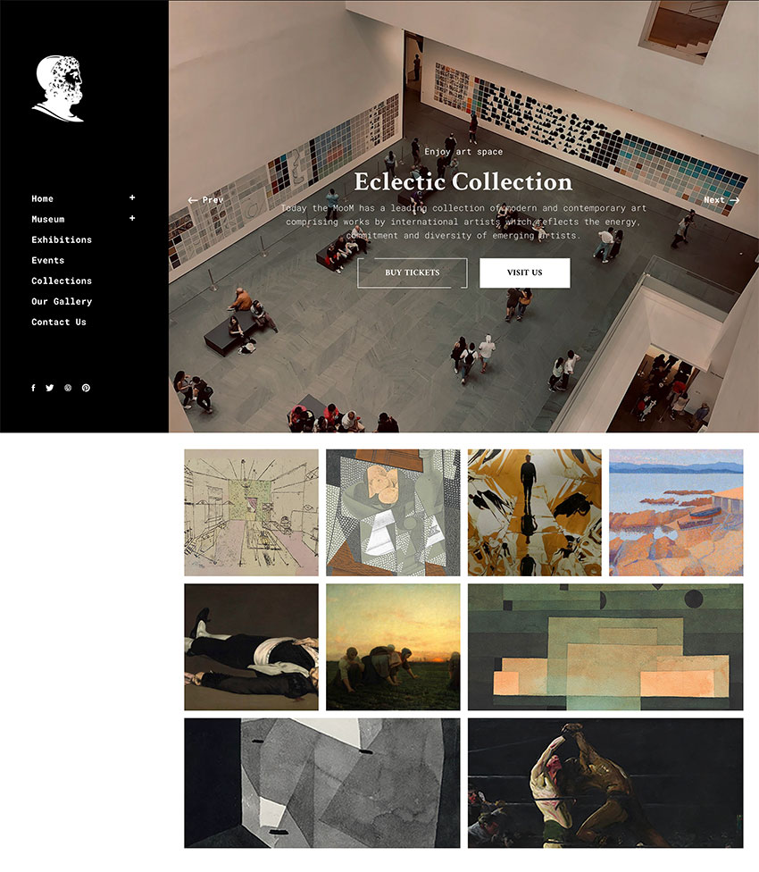 Mooseoom - Art Gallery Museum  Exhibition WordPress