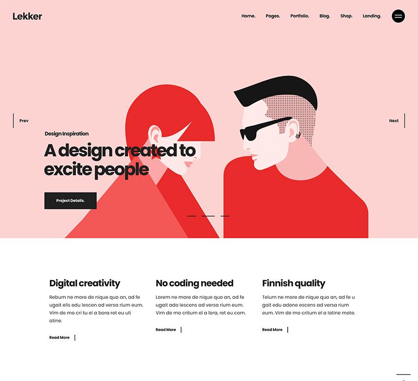 Lekker - Portfolio WordPress Theme