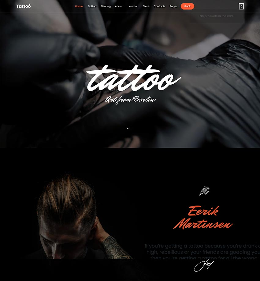 Tattoo - WordPress