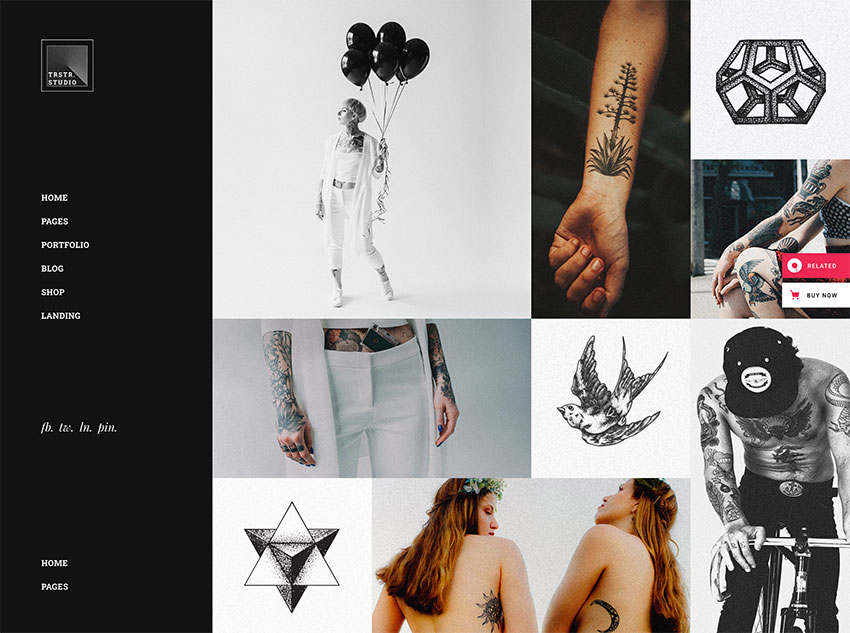 Tristero - Tattoo WordPress Theme