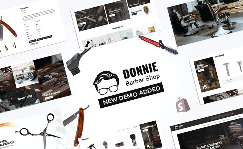 Donnie  Salon Barber Shop Shopify Theme