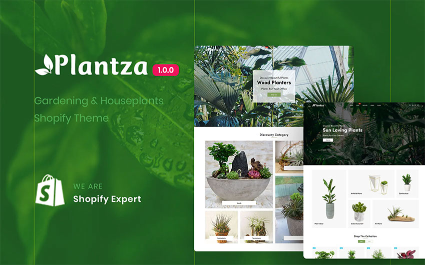 Plantza - Gardening  Houseplants Shopify Theme