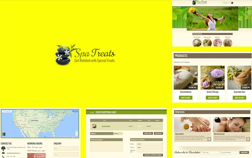 Spa Treats - Yoga and salon Shopify Theme