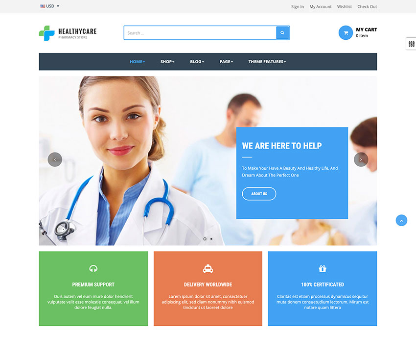 Ap Healthy Care Shopify Theme