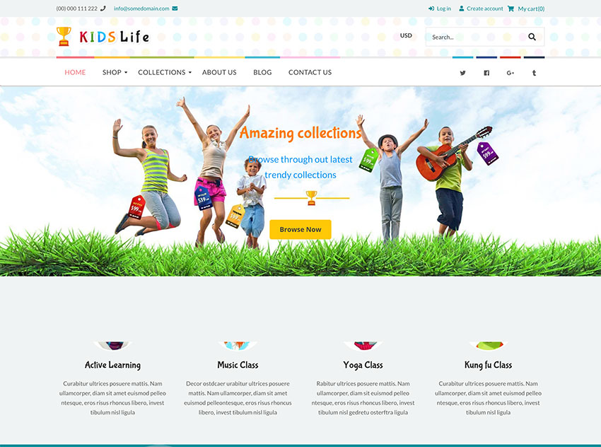 Kids Life - Toys Children School Shopify Theme