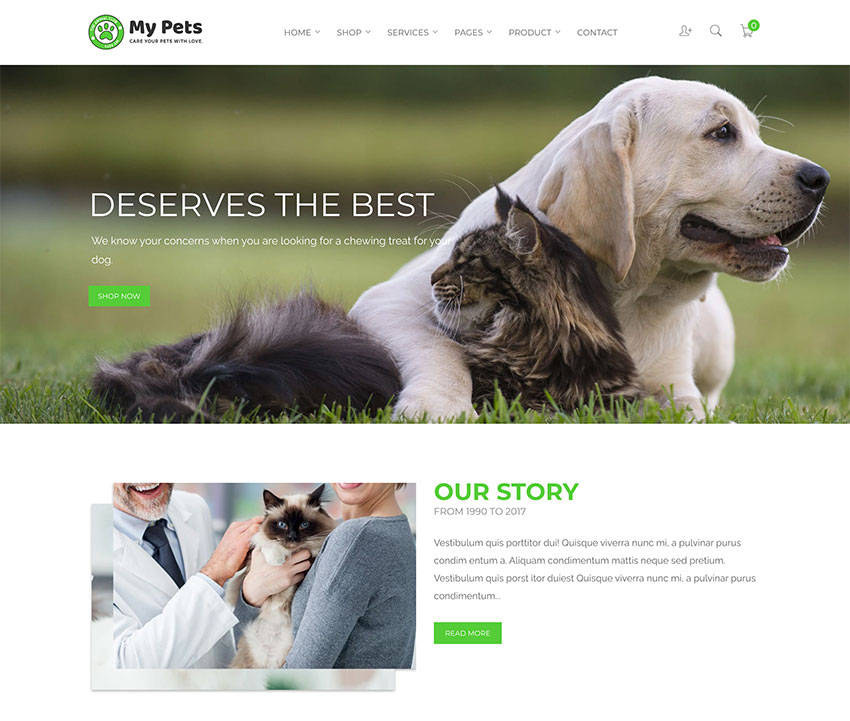My Pets - Pet Sitter Pet Shop Animal Care Shopify Theme