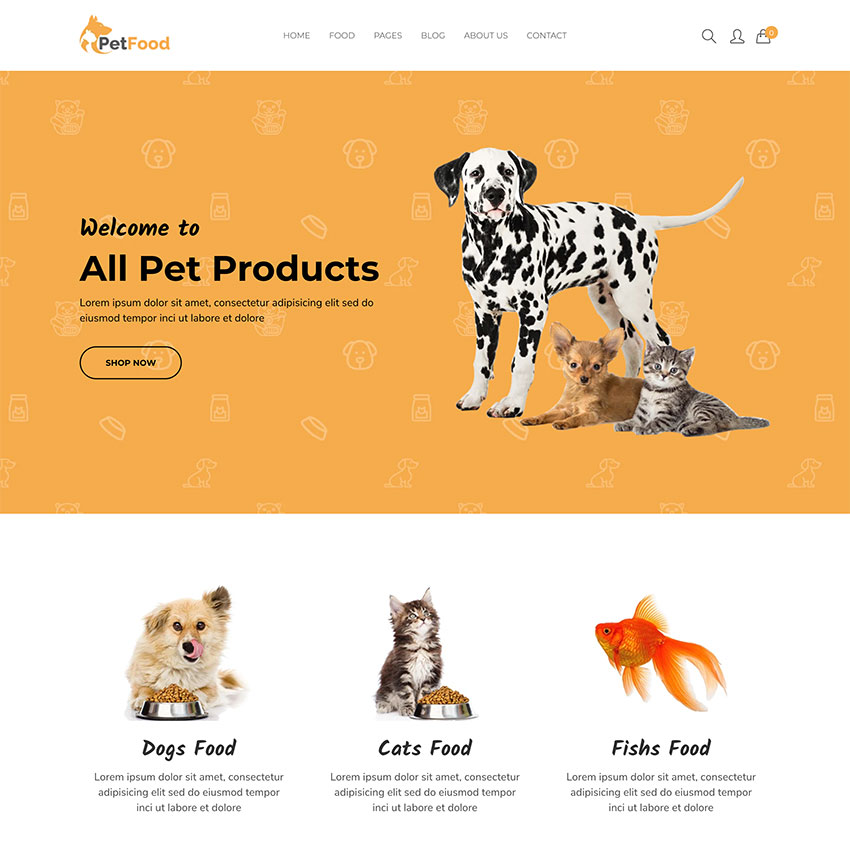 PetFood - Pet Care Pet Sitter Shopify Theme
