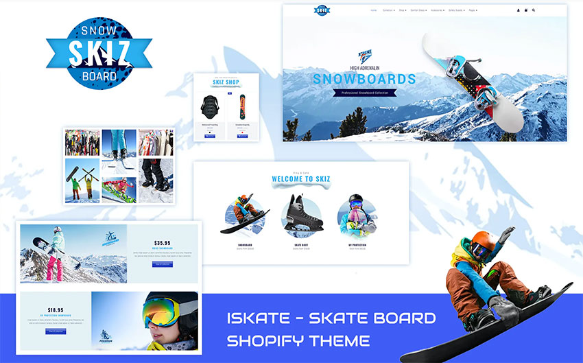 Skiz  Sports Ski Boards Shopify Theme