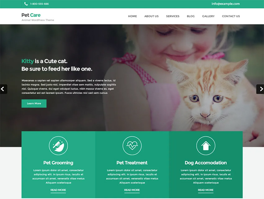 Petcare Lite Free Pet WordPress Theme
