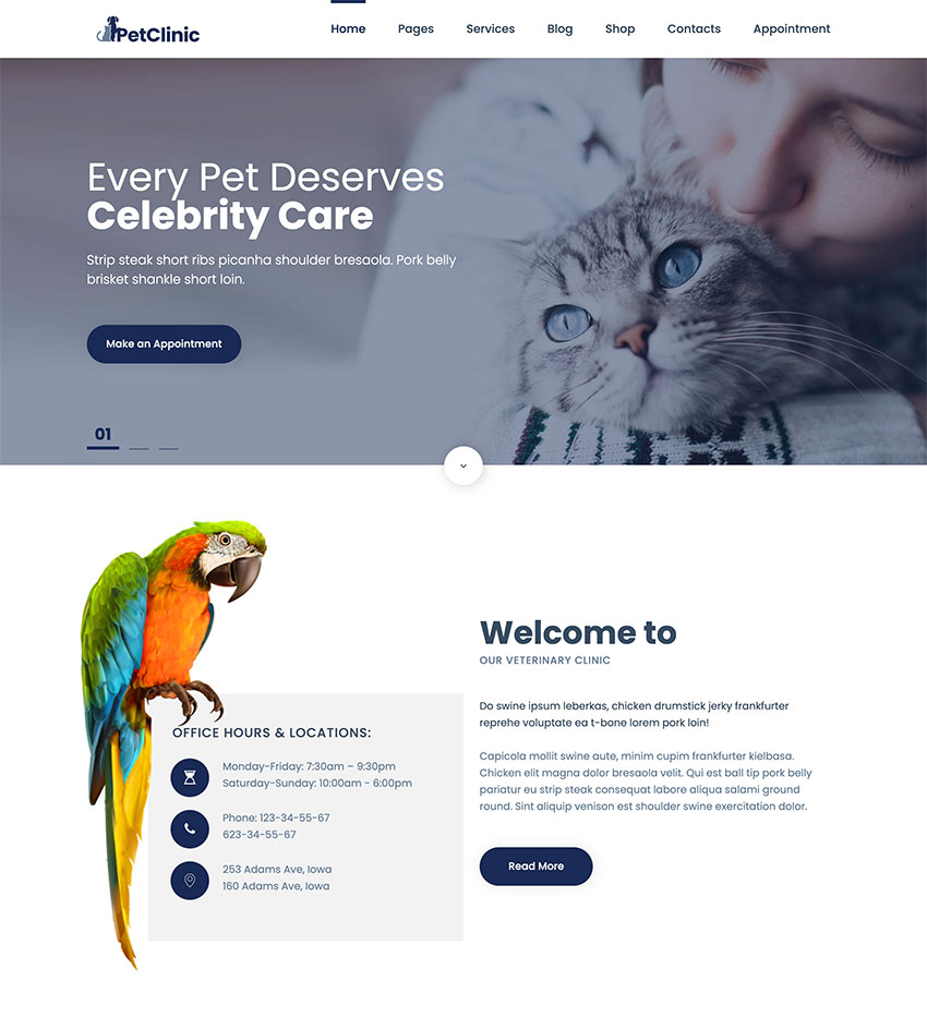 PetSpace - Animal Care  Grooming WordPress Theme