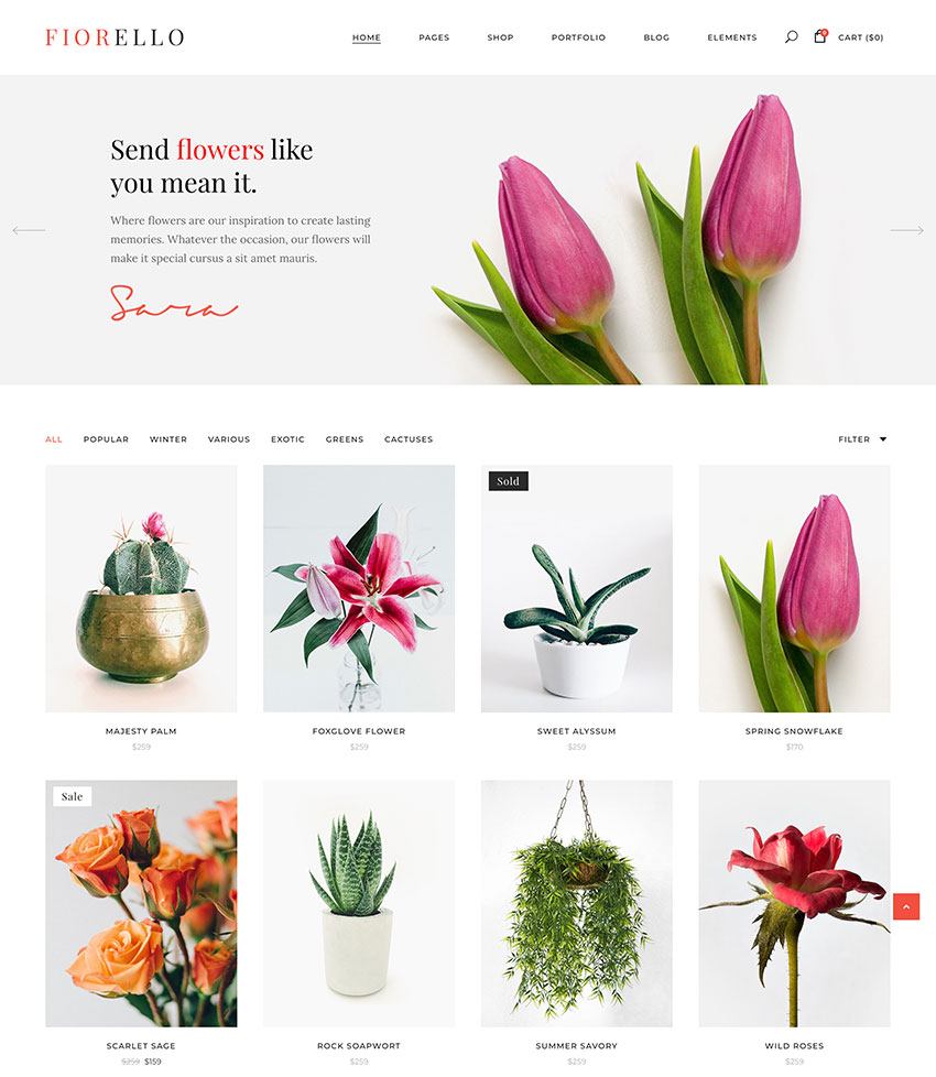 Image of Fiorello   Florist and Flower Shop Theme