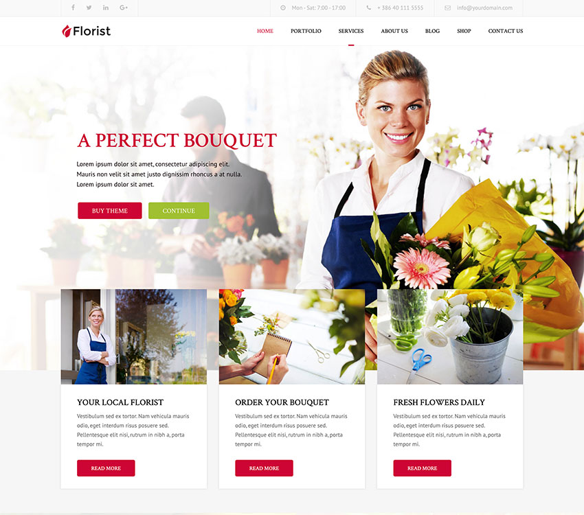 Image of Florist   Florist & Landscaping WP Theme