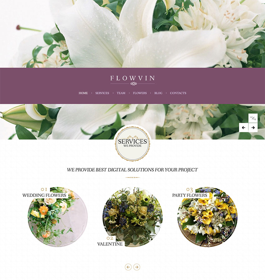 Image of FlowVin   Vintage Flower Shop WordPress Theme