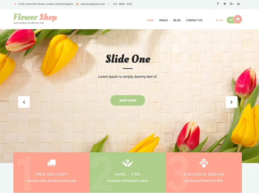 Image of Flower Shop Lite (Free WordPress Theme)