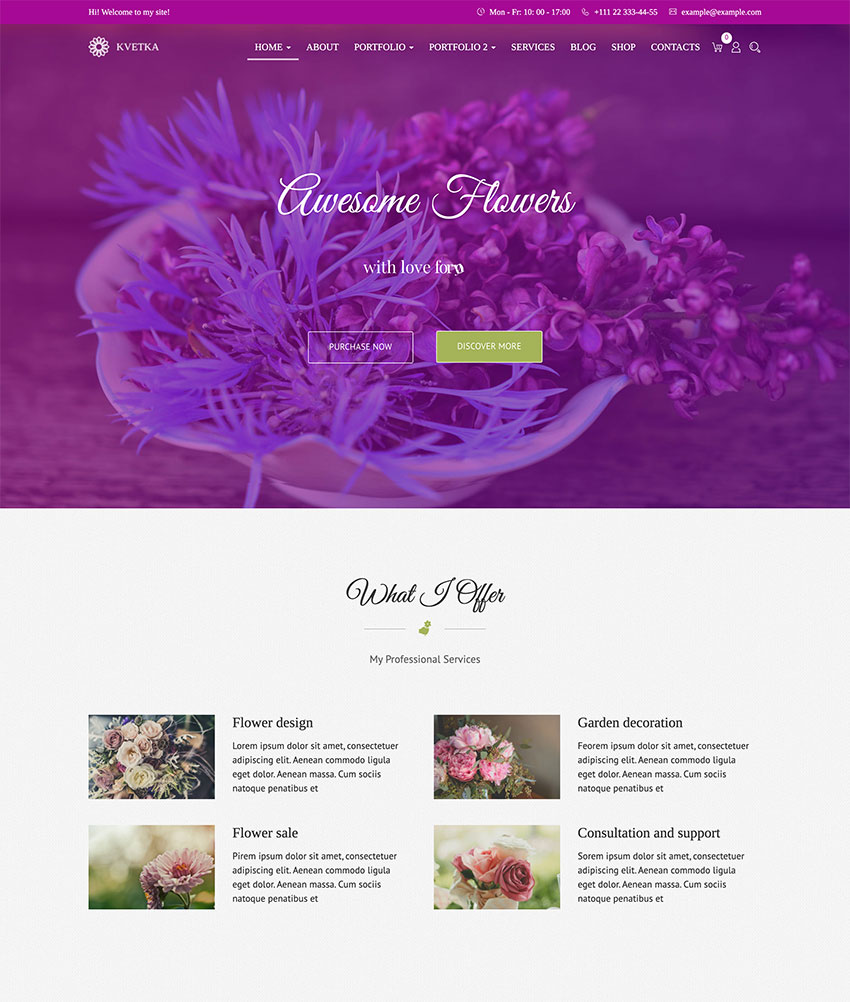 Image of Kvetka   Flowers & Shop WordPress Theme