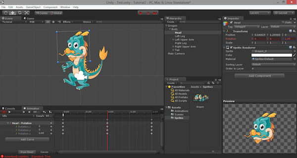 Bone-Based Unity 2D Animation: Creating the Actual Animations