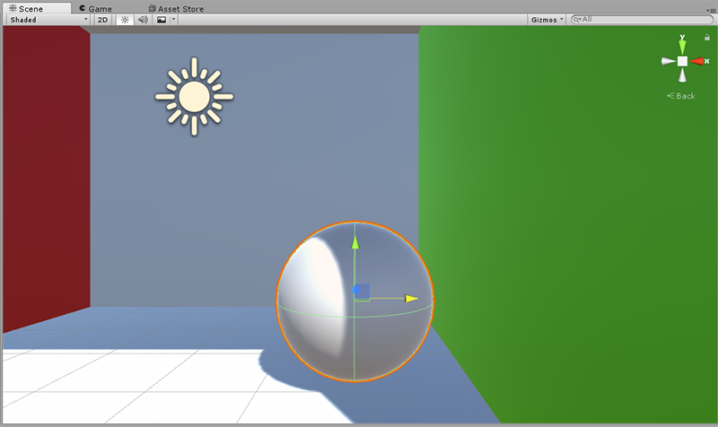 Global Illumination - Sphere surface