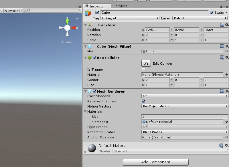 Global Illumination - Cube Inspector Properties