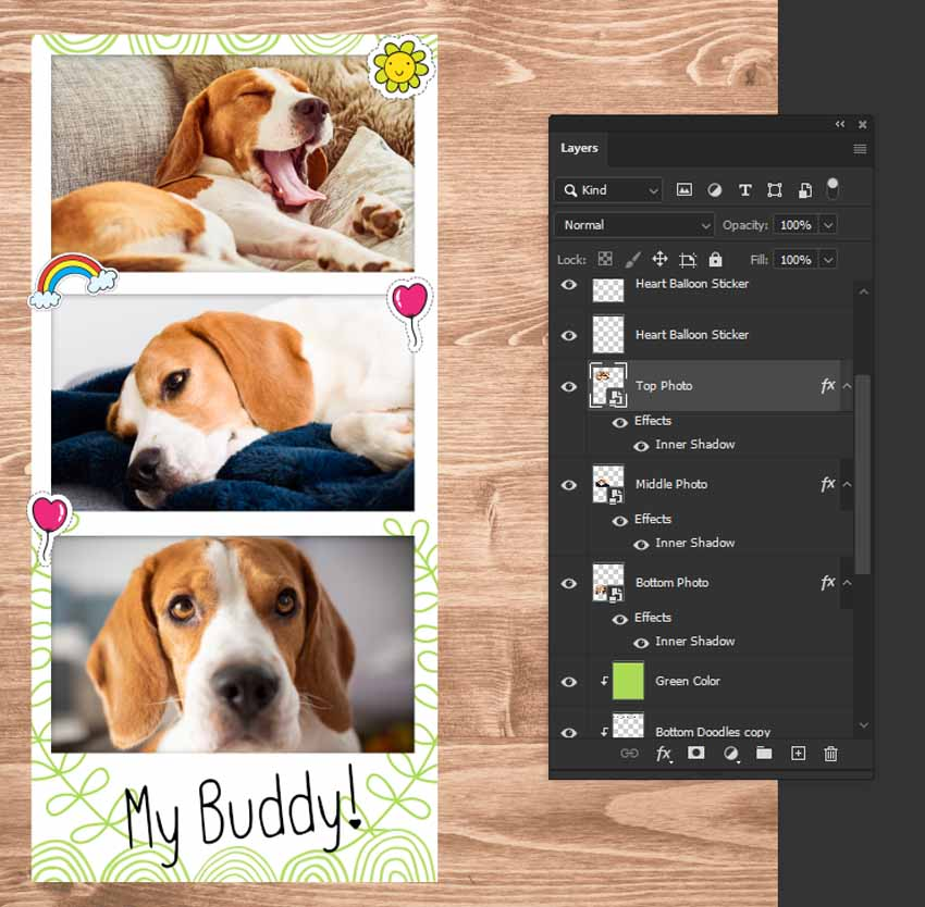 finished photobooth template