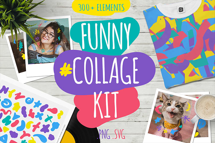 Funny Collage Kit Template