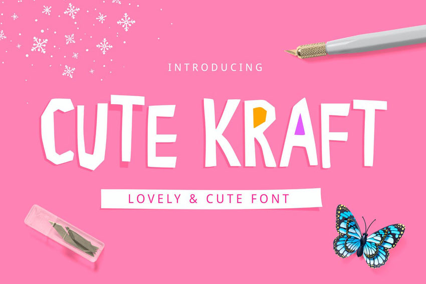 Cute Kraft Font Cute Cricut Fonts