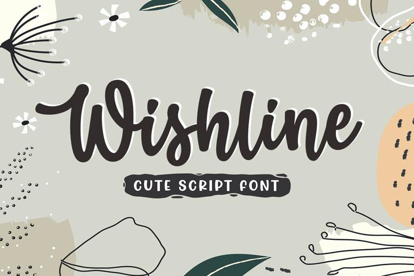 Wishline Cute Script Font Cricut Cursive Fonts