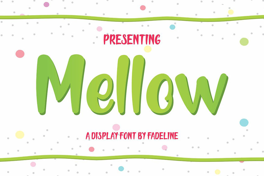Mellow Cute Display Font Cute Cricut Fonts