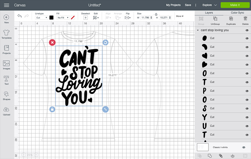 Image of how to make t shirt designs with a cricut 11
