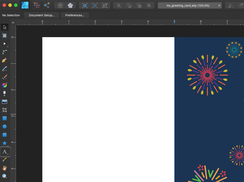 Affinity Designer Template Greeting Card Select Text