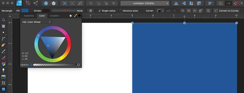 Affinity Designer Greeting Card Template Pick Color