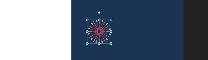 Affinity Designer Template Greeting Card Firework