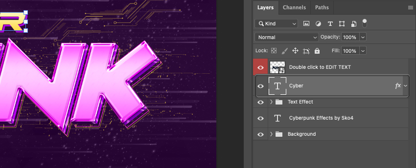 How to Rotate Text in Photoshop Select Layer