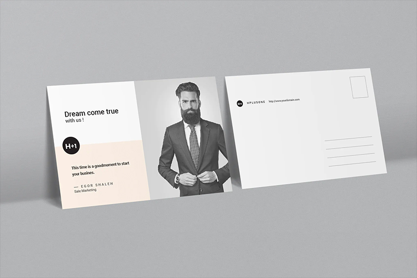 Envato Elements Business Postcard