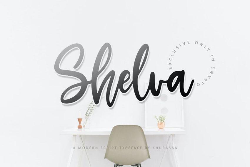 Shelva Cricut Script Font