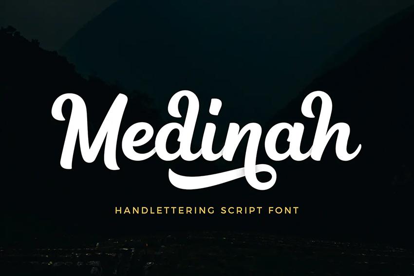 Medinah Script Font