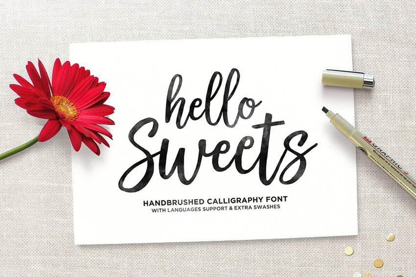 Hello Sweets Cute Cricut Font