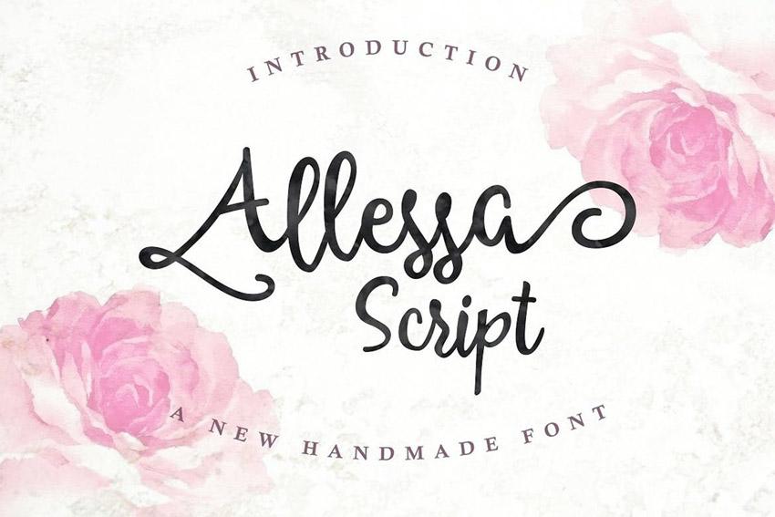 Allessa Cricut Script Font