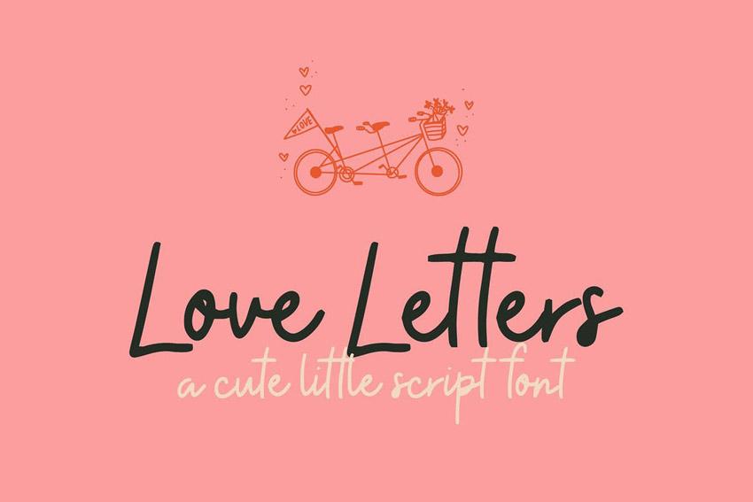 Love Letters Cute Cricut Font
