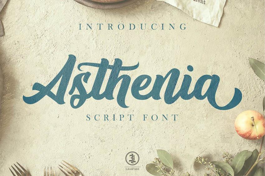 Asthenia Cricut Cursive Font