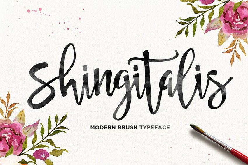 Shingitalis Typeface (Cricut Script Font)